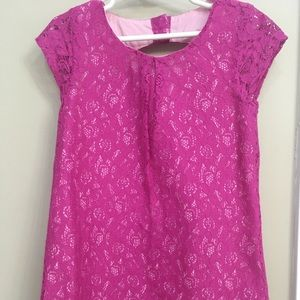 Gymboree short sleeve lace pink dress girl kids